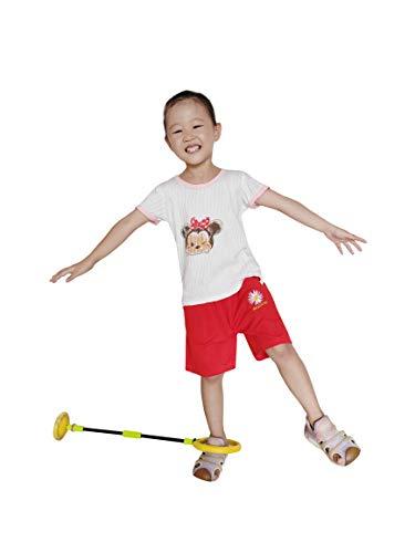 U/B Palla da Salto Pieghevole con Anello alla Caviglia per Bambini Gioca a Palla da Salto Giocattolo per rimbalzare Fitness