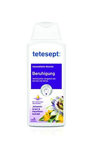 tetesept Beruhigung Duschgel, Wohltuender Ausgleich bei Unruhe und Stress | Mit natürlichen Wirkstoffen: Johanniskraut & Passiflora-Extrak, Intensiver Duft , 5 x 250ml
