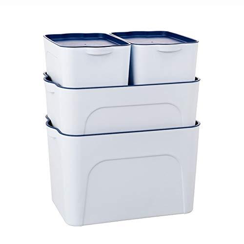 Boîte de rangement pour sous-vêtements Boîte de rangement pour sous-vêtements en PP, avec couvercle en plastique, étanche à l'humidité, boîte de rangement étanche à la poussière, armoire de bureau, co