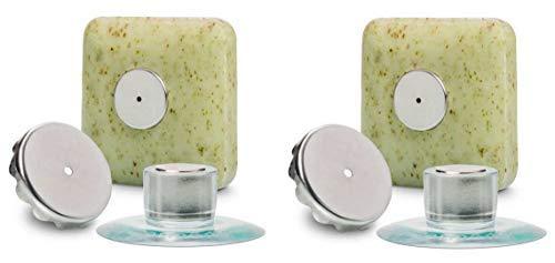 2 x Seifenhalter mit Magnet by SudoreWell® / Savont - neu, innovativ, sauber und umweltfreundlich