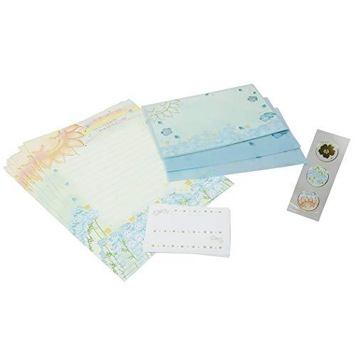 レターセット[もん MON Series]手紙セット/太陽とネモフィラ