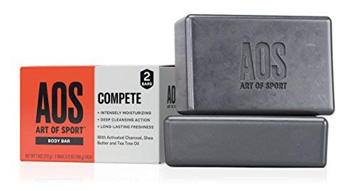 Art of Sport Body Bar Soap (2-Pack) - Compete Scent - Activated Charcoal Soap with Natural Botanicals Tea Tree Oil and Shea Butter - Energizing Citrus Fragrance - Shower + Hand Soap - 3.75oz
