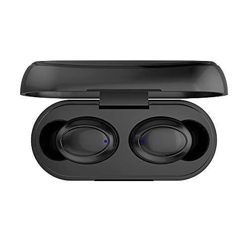 1 par de Auriculares inalámbricos Bluetooth 5.0 con Control táctil Auriculares internos con Estuche de Carga de 300 mAh Auriculares estéreo TWS - Negro 1 TAMAÑO