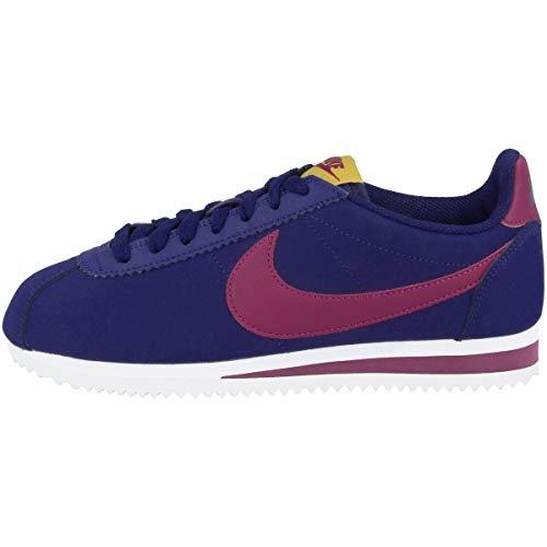 Nike Wmns Classic Cortez Leather, Zapatillas de Atletismo Mujer, Multicolor (Blue Void/True Berry/Dark Citron/White 406), 37.5 EU