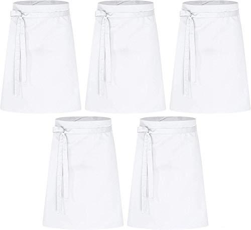 DESERMO 5er Set Basic Vorbinder 60cm x 80cm (L X B) | Hervorragende Taillen-Schürze für Frau & Mann | Innovative Mischung aus Baumwolle & Polyester | Gewicht: 190g/m²