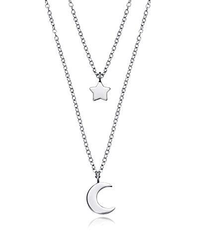 Viceroy Collar Doble Jewels 5064C000-08 Luna Estrella Plata de Ley