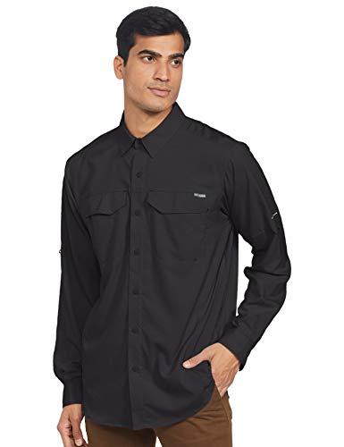 Columbia Long Sleeve Shirt Silver Ridge Lite Camisa de Manga Larga, Hombre, Negro, 1 Unidad