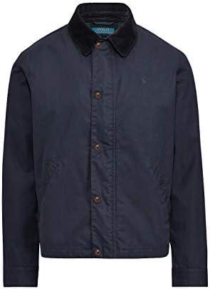 Polo Ralph Lauren Men s Corduroy Collar Coated Twill Jacket Aviatr Navy XL product image
