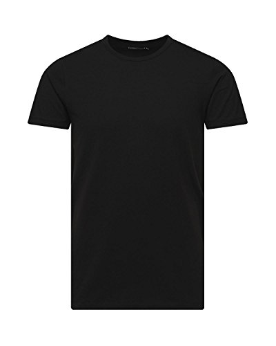 Jack and Jones Herren T-Shirt Basic Rundhals 3er Pack einfarbig Slim Fit in weiß schwarz blau grau (M, 3er Pack O schwarz)