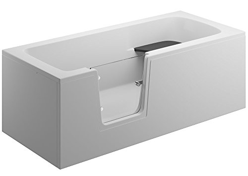 Badewanne | Seniorenbadewannen 170 x 75 cm, Einbauvariante:Rechtseinbau