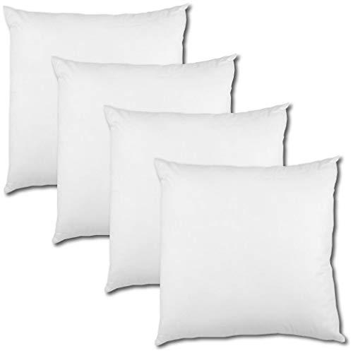 Bestlivings 4er Set Polyester Vlies Füllkissen 45x45cm weiß, bei 30° waschbar, viele Größen