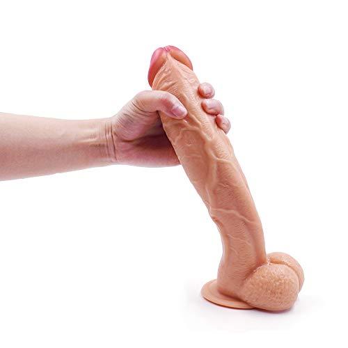 Simulated Pêňis Realistic Dî'ldɔ 10.23 Inches Waterproof Flexible Toy Women Másturbǎting with...