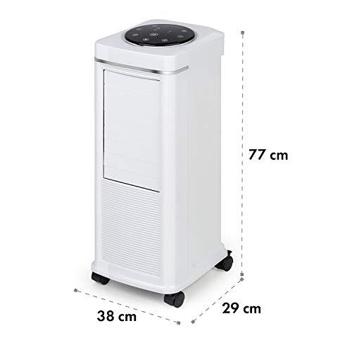 Klarstein Windspiel 3-in-1-Luftkühler,Ventilation, Luftkühlung, Luftbefeuchtung, 100 W,8 Windstärken, 3 Windarten: Normal-, Natur- und Schlafmodus, zuschaltbare, automatische Oszillation, weiß