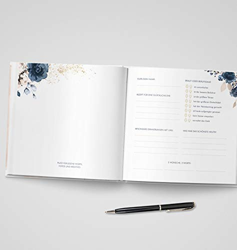 Gästebuch mit Fragen |Watercolor Breeze, rosé - 5