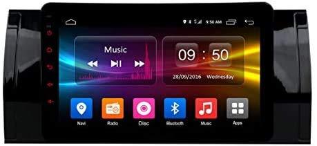 ZBHWYD Android 6.0 GPS de navegación Radio de automóvil para B M W E39 7 Pulgadas 2.5D Pantalla Nano IPS EXTRADA 4G WiFi Bluetooth Rearcamera Micrófono Multimedia Player