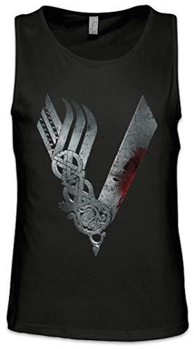 Urban Backwoods Vikings Logo Celtic Herren Männer Tank Top Training Shirt Schwarz Größe XL
