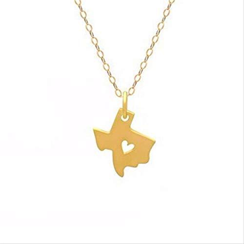 n a Umriss Texas Karte Mit Herz Halskette Usa Tx State Halskette Ich Herz Liebe Texas Halsketten Karte Geographie Halskette