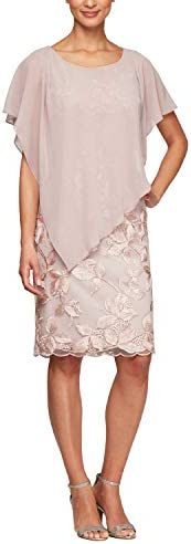 Alex Evenings Women s Short Popover Dress Pale Pink 14 product image