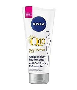 NIVEA Q10 Multi Power 5in1 Gel-Crema Anticelulítico Reafirmante, 1 x 200 ml, gel en crema para reducir los signos de celulitis, crema anticelulítica y cuidado corporal