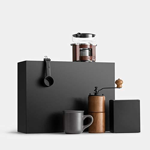 Yzlife Handkoffiemolen, handkoffiemolen, zwart koffiezetapparaat, draagbare duurzame molen voor thuis, kantoor, outdoor, reizen