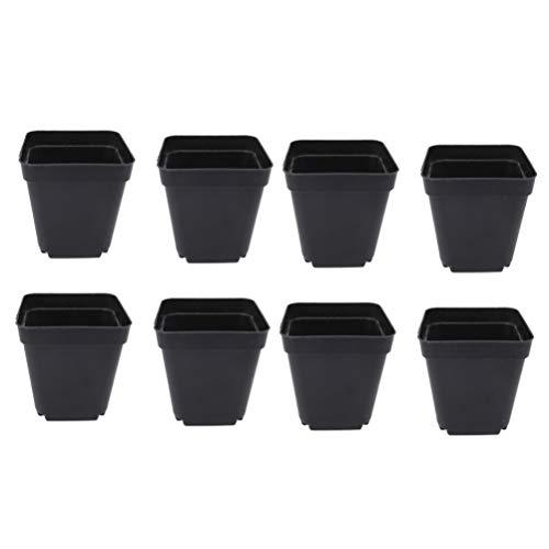 YARNOW 50 Piezas Macetero Cuadrado Pequeño Macetas de Plástico Negro Macetas de Plástico Negro para Interiores 6 Cm X 6 Cm X 6 5 Cm