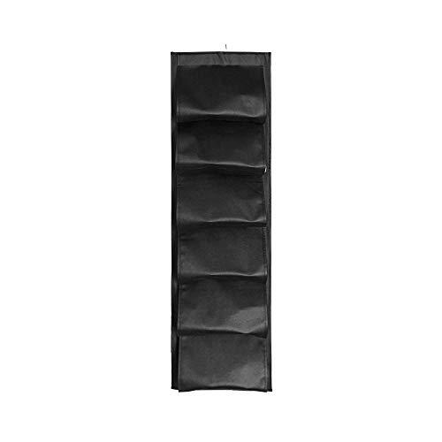 beizi Bolsa de almacenamiento plegable para colgar en el hogar, guardarropa, portátil, bolsa de zapatos de viaje al aire libre, organizador para colgar zapatos (color: negro)