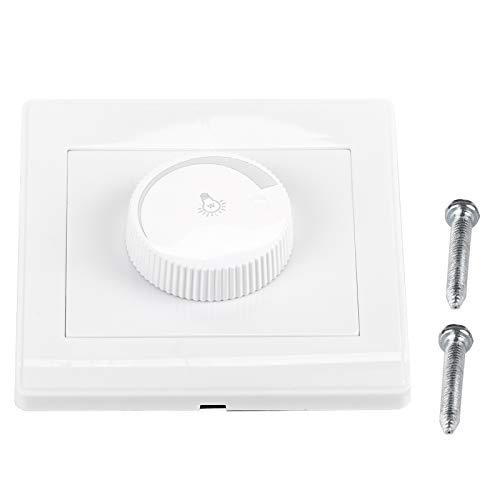 Interruptor de atenuación, 1 Uds, Práctico botón giratorio montado en la pared para el hogar, interruptor de atenuación del panel del controlador de brillo