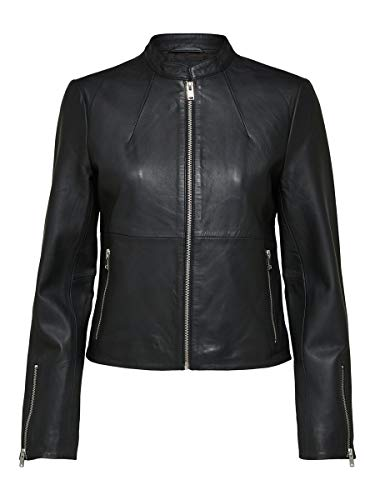 SELECTED FEMME Female Lederjacke Lamm 36Black