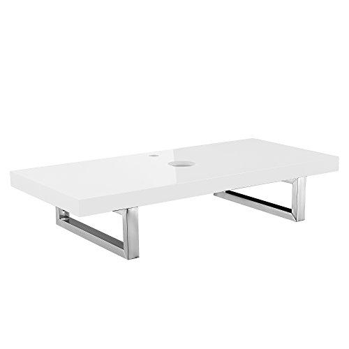 [Neu.Haus] Encimera de baño para Instalar Lavabo (100x45cm) Blanca Brillante de MDF +...