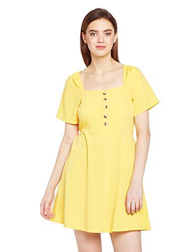 oxolloxo Women's Mini Dress (Yellow_Medium)