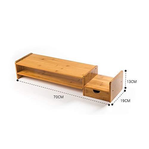 Verhoogde plank multifunctioneel beeldscherm, toetsenbord plank steun nek bescherming, ondersteuning voor tv of computer monitor voor thuiskantoor (kleur: C-70X19X13cm)