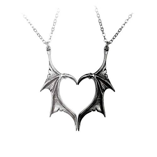 Alchemy Gothic Demon Wings Sweetheart Halskette schwarz/Silber