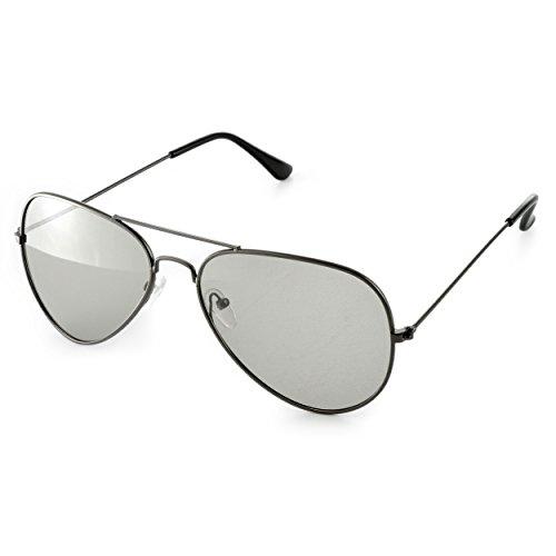 Set van 4 3D-brillen (pilotenbril) voor passieve 3D-tv's, pc-games of bioscoop realD, passieve bril (circulair gepolariseerd) kleur: zwart, merk Ganzoo