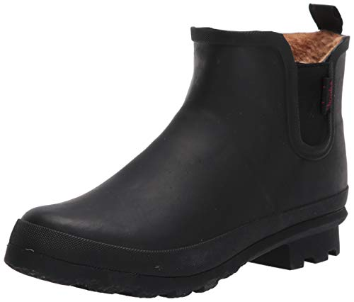 Chooka Women's Waterproof Plush Chelsea Bootie Chelsea Boot,Black, 6 medium