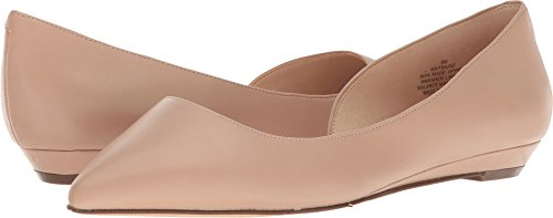 NINE WEST Women's Saige Ballet Flat, Light Natural Synthetic, 9