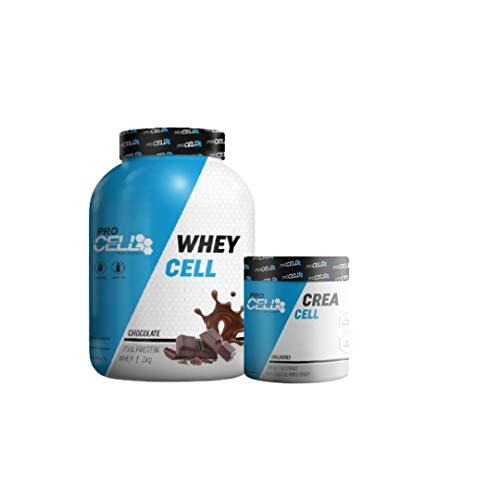 Proteina Whey 2KG Fresa + Creatina Creapure 400GR Procell