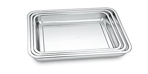 MILSUE Baking Sheet Set, Stainless Steel Cookies Baking Sheets, 3 Pcs Baking Sheets for Oven