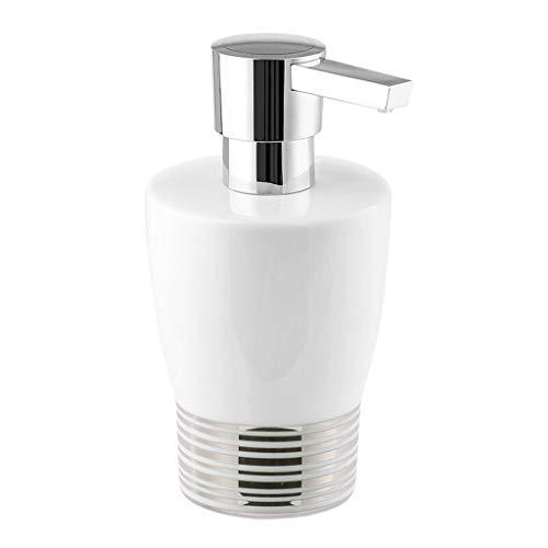 Tingting1992 Dispensador de jabón creativo europeo manual dispensador de jabón simple de cerámica botella de jabón de baño caja de jabón líquido 280 ml (color: C)