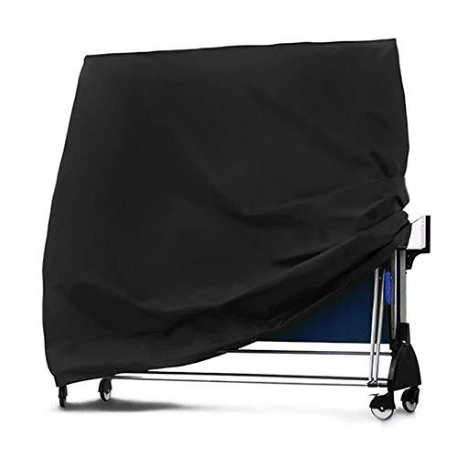 LDIW Abdeckung für Tischtennisplatte Oxford Gewebe Schutzhülle für Tischtennisplatte Wetterschutz UV-Schutz 165x70x185 cm Schwarz