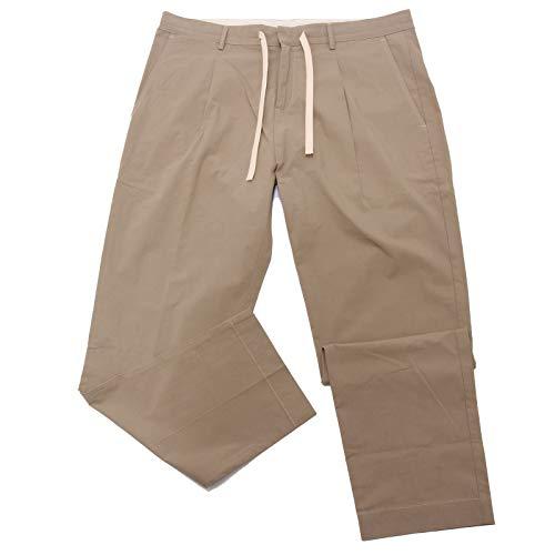 PAOLO PECORA 5131AE Pantalone Uomo Beige Cotton Trouser Man [52]