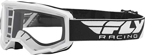 FLY Racing Focus Goggles for Motocross, Off-road, ATV, UTV, and More (WHITE with Clear Lens)