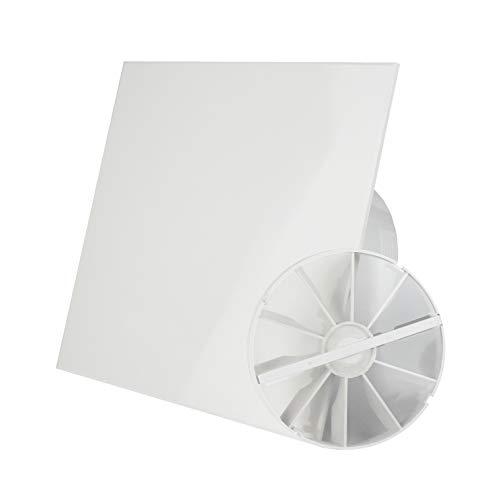 MKK Ventilateur de Salle de Bain Ventilateur de Plafond Ø 100 mm Roulement à Billes Silencieux 4,4 W avec clapet Anti-Retour