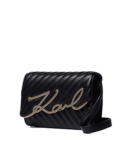 Karl Lagerfeld Riñonera-Bolso K/Signature Stitch 201W3109 Color Negro.