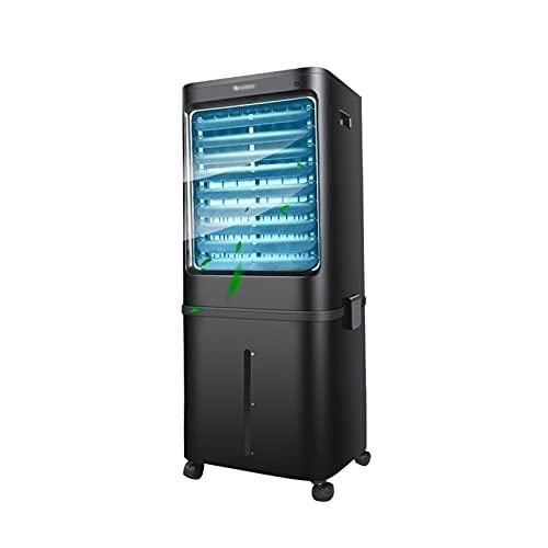 Enfriador de Aire Enfriador De Aire Móvil, Acondicionador De Refrigeración Negro, con Control Remoto, Programable Durante 15 Horas, Bajo Nivel De Ruido, Rueda Universal