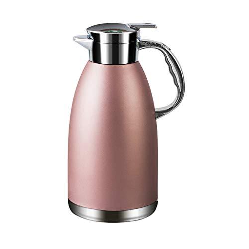 Aoyo Isolierkessel Kaffeekanne, Großer Edelstahlkessel, Kochende Wasserflasche(Color:2.3L Pink)