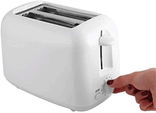 KaiKai Haushaltsgeräte Mini Ofen Toaster gebürstetes Edelstahl Toasters Vollautomatische Frühstück Maschine 2 Stück Doppelseitiger Backen Toasts und Herausnehmbare Krümelschublade Einstellbare