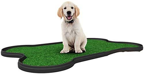 MeTikTok Dog Boilets para Perros Grandes Al Aire Libre, Perro De Mascotas Clo Aseo con Césped Artificial, Inodoro Interior, Uso Doméstico Balcón, 67 X 42X 3 (L B H) CM, (Color: Negro)