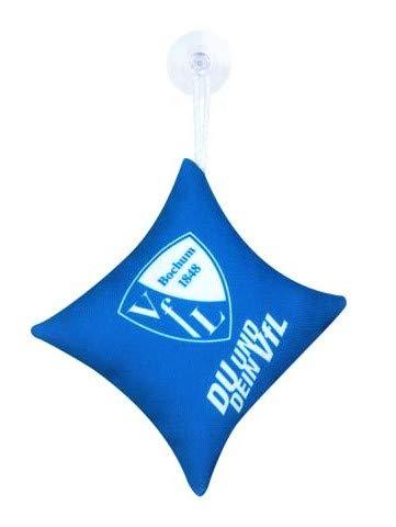 VfL Bochum 1848 Mini-kussen voor de autoruiten belettering DU en je VFL met zuignap spiegel venster fanartikel cadeau-idee