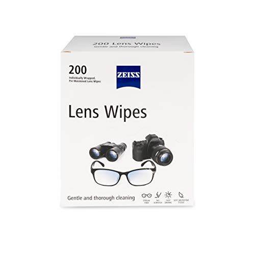 Zeiss Pre-Moistened Lens Cleaning Wipes, 2 Pack (200 Ct)
