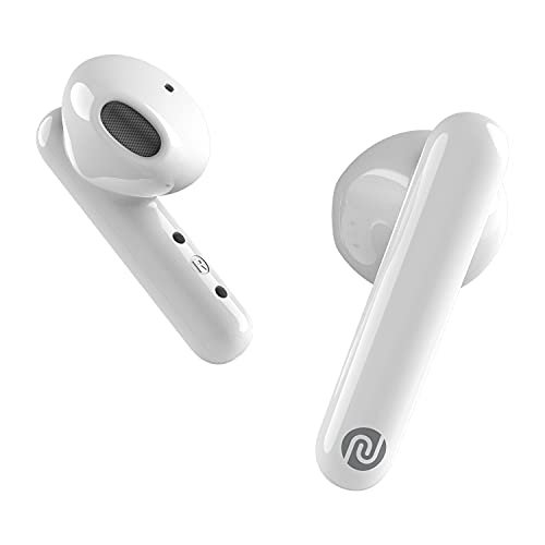 Noise Air Buds Truly Wireless Earbuds with Mic for Crystal Clear Calls, HD Sound, Smart Touch and 20 Hour Playtime - ICY White